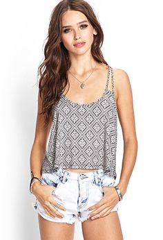 Geo Print Strappy Cami | FOREVER21 - 2000124330