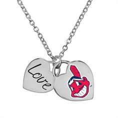 Cleveland Indians Heart Necklace