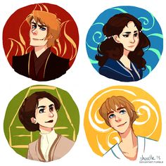 Star Wars - Four Elements by shorelle -- If you think about it, it's true for each of the characters to have that element....