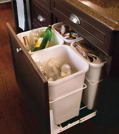 Click Pick for 40+ Creative DIY Kitchen Storage Ideas - Mini Recycling Center