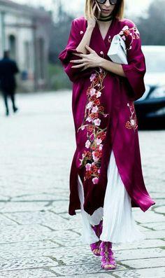 Kimono, bordado