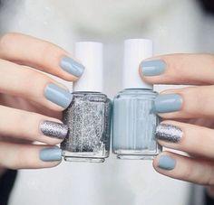 I love blue nail polish