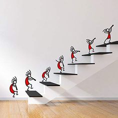 Buy DeStudio 'Kokopelli Red Band' Wall Sticker (PVC Vinyl Film, 110 cm x 75 cm x… - Work-toptrendpin.