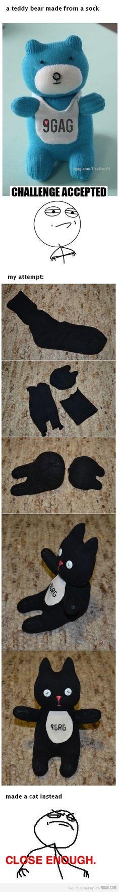 Create a Teddy Bear from a Sock