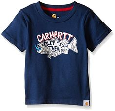 Carhartt Boys Out Fish Then All Tee Insignia Blue 3 Months -- Be sure to check out this awesome product. (This is an affiliate link) #BabyBoyTops