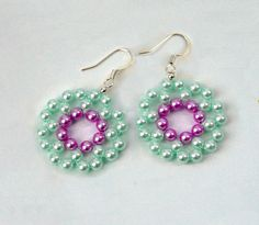 Free pattern for beautiful earrings Mermaid.  U can use pearl beads  2 – 4 mm