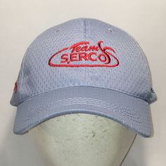 Item: This is a pre-owned Team Serco Hat. Fishing Hats For Men, Dad Caps, Baseball Cap, Oc, Dads, Blue, Baseball Hat, Fathers