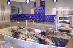 Exceptionnel Art Glass Countertops By ThinkGlass | Counter Top, Glass Bottle And Glass  Countertops