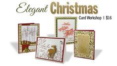 Elegant Christmas card workshop