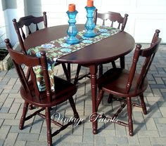 Espresso Table & Chairs  #Vintage Paints #painted #furniture