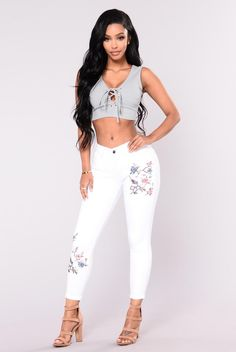 You re My Distraction Jeans - White Denim Fashion 7bc6647b96d