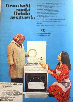 OĞUZ TOPOĞLU : demirdöküm fırın 1975 nostaljik eski reklamlar