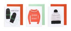 For a cozy and very stylish range of winter holiday cards, look no further than Pei Design.