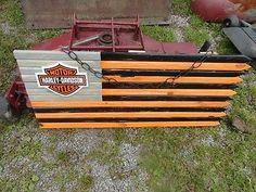 Harley-Davidson Wooden Flag