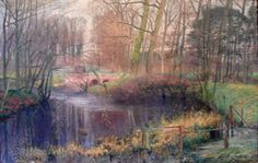 Impressionism | Claus, Emile - Park of Ooidonk - Impressionism - Oil on canvas ...