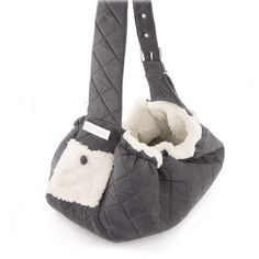 Puppy Angel Quilted Pet Sling Carrier in Grey