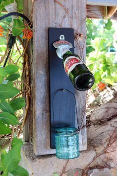 DIY Porch and Patio Ideas - DIY chalkboard Bottle Opener Patio Decoration - Decor Projects and Furniture Tutorials You Can Build for the Outdoors -Swings, Bench, Cushions, Chairs, Daybeds and Pallet Signs  http://diyjoy.com/diy-porch-patio-decor-ideas