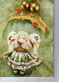 Archivo de álbumes Gingerbread, Album, Christmas Ornaments, Holiday Decor, Crafts, Angeles, Fondant, Corner, Craft Ideas