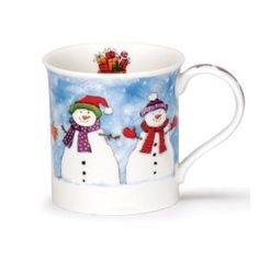 Dunoon Mugs Bute Christmas Chums snowman by maxpitter