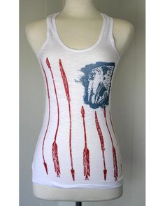 Freedom Flag Racerback Slub Burnout Tank by Orginial Cowgirl Clothing Co. Slub burnout back-racer tank top perfect for layering.
