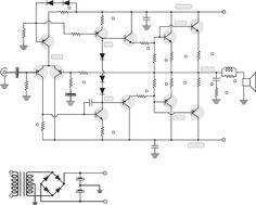 Amplificador de 400W Compl (1).pdf· Amplificador de 400W Complementario 1 ... (100w por canal). ...… Hifi Amplifier, Susa, Circuit Diagram, Electronics Projects, Nature Pictures, Guitar, Diy, Plates, Log Projects