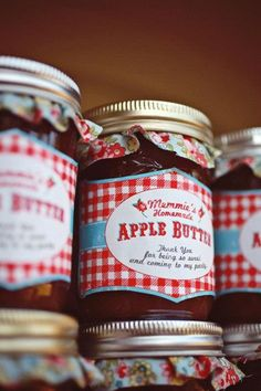 Farmer's Market Party via Kara's Party Ideas | Kara'sPartyIdeas.com #farming #party #idea Apple Butter Party Favors
