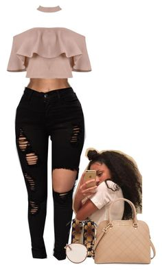 """""""B* I Know You Know """" by muvaaliyah ❤ liked on Polyvore featuring Nine West, Ray-Ban and MICHAEL Michael Kors - lingerie, romantic, bustier, wedding, romantic, white lingerie *ad"""