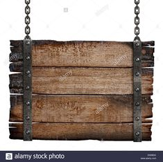 old-burnt-wood-sign-board-on-chain-DG58DA.jpg (1300×1292)