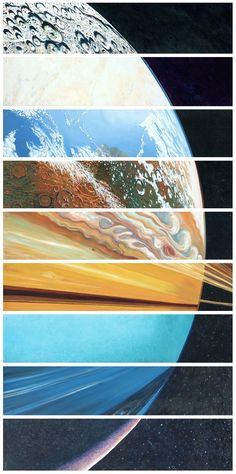 太陽系の惑星が、人々と同じくらい個性的だということがわかる画像