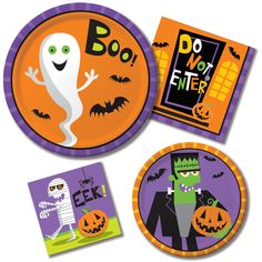 Frightful Friends - Party at Lewis Elegant Party Supplies Plastic Dinnerware Paper Plates and Napkins  sc 1 st  Pinterest & Skelebration Dessert Plates-Napkins.com - Day of the Dead ...