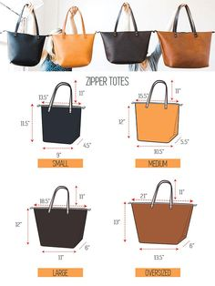 Leather Tote Bag - Personalized Tote with Zipper Option Leather Tote Pocket for Women Zipper Available Leather Tote SALE monogram Bag Purse Diy Leather Tote Bag, Leather Backpack Pattern, Leather Bags Handmade, Denim Bag, Handmade Bags, Leather Purses, Leather Totes, Bag Patterns To Sew, Quilted Bag