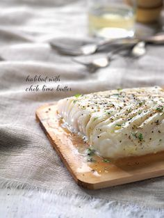 Quick Fix - Planked Halibut with Cilantro Lime Butter Smoked Trout, Smoking Recipes, Halibut, Cousins, Cilantro, Camembert Cheese, Grilling, Recipies, Lime