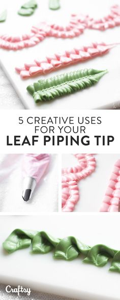 You can use your leaf piping tip for so much more than just leaves! Learn 5 new applications with our Craftsy mini tutorial!