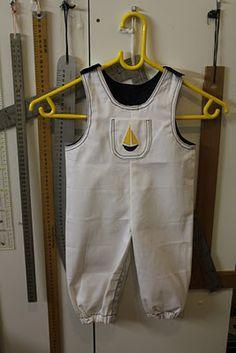 Nautical baby dungarees