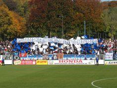 Fan-Choreo im Karl-Liebknecht-Stadion vor dem Spiel des SV Babelsberg 03 gegen den Karlruher SC. Geholfen hat es aber nicht. Der geforderte Heimsieg blieb aus. Die Teams trennten sich 0:0