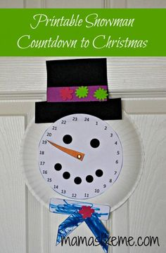 Free Printable Snowman Countdown to Christmas