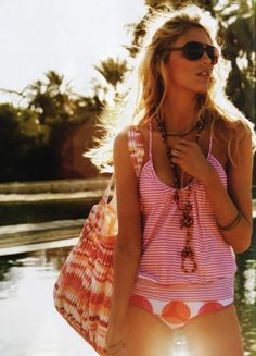 love this! so cute :) #bikini #polkadot #strippedtank
