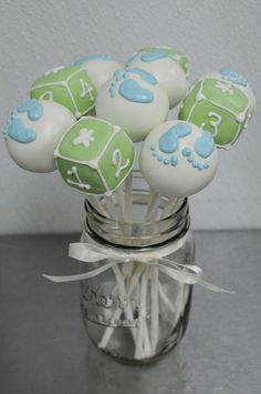 cake pops in mason jar