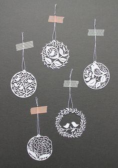Circle shapes paper cut