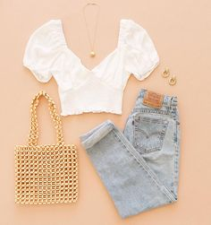 Cute Casual Outfits, Girly Outfits, Cute Summer Outfits, Simple Outfits, New Outfits, Teenage Outfits, Teen Fashion Outfits, Outfits For Teens, Preteen Fashion