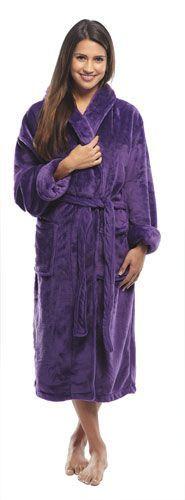 Purple Bathrobe for Men or Women.. I'd love this one!!! love love love a purple robe! it looks warm and fluffy