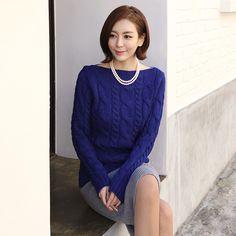 [Secret2Girls] Twist Cable Knit Sweater