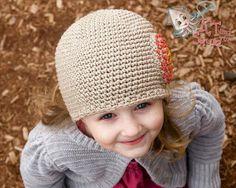 Free simple single crochet hat pattern.
