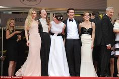 Reunited: The girls all chuckled together, while actor Israel Broussard looked dapper in his suit and bow tie
