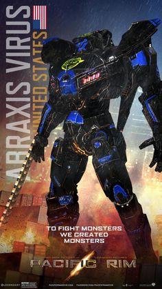 pacific rim jaeger names Pacific Rim Jaeger, Cool Robots, Mundo Comic, Futuristic Art, Sci Fi Art, Illustrations, Godzilla, I Movie, Comic Art