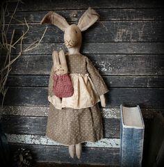 PatternMart.com ::. PatternMart: Primitive Folk Art Mama Bunny Rabbit and Baby Doll