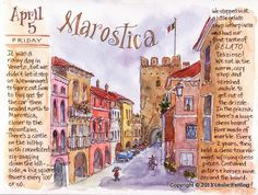 Everyday Artist: Sketchbook Journeys: Italy - Day 4 (Marostica & Poianella)