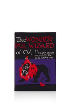 The Wonderful Wizard Of Oz Book Clutch by Olympia Le-Tan for Preorder on Moda Operandi
