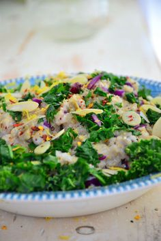 A Cleanse Recipe You'll Actually Enjoy: Lemon Kale Salad #glutenfree