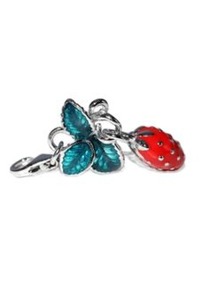 Sterling Silver Green and Red Enamel Strawberry Charm in Summer 2012 from Cirque Jewels on shop.CatalogSpree.com, my personal digital mall.
